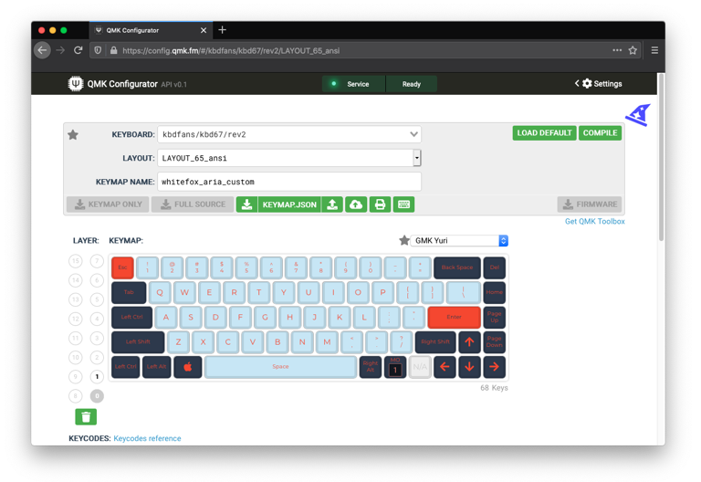 The online QMK configurator tool makes key mappings for custom layouts or personal preferences easy